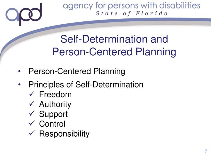 Self-Determination and