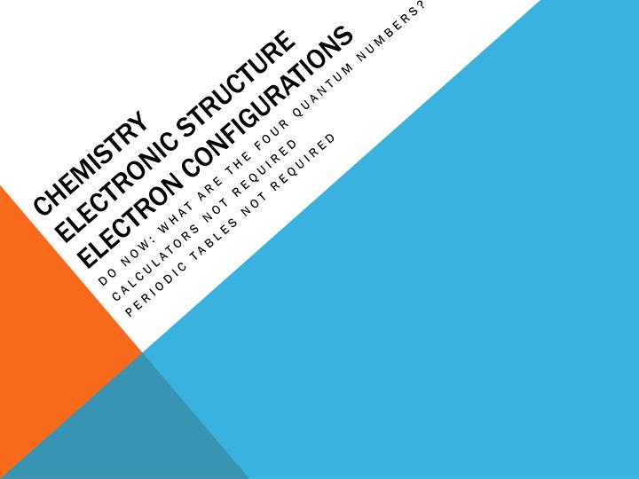 chemistry electronic structure electron configurations n.