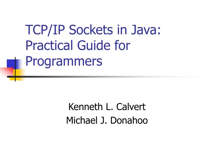 tcp ip sockets in java practical guide for programmers n.