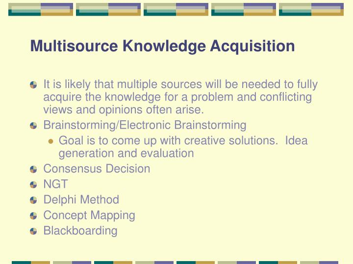 Multisource Knowledge Acquisition