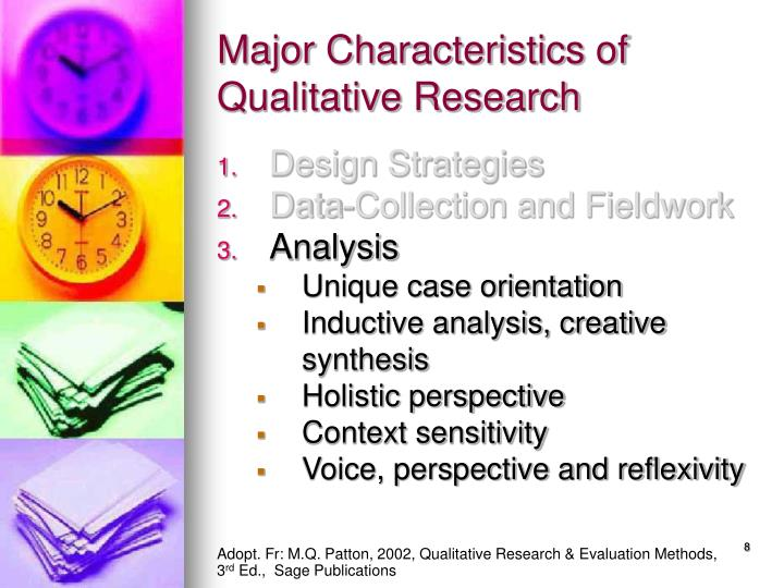 an analysis of qualitative research methods The different types of qualitative research methods and designs definition, importance, and benefits of the qualitative research for marketing and business.