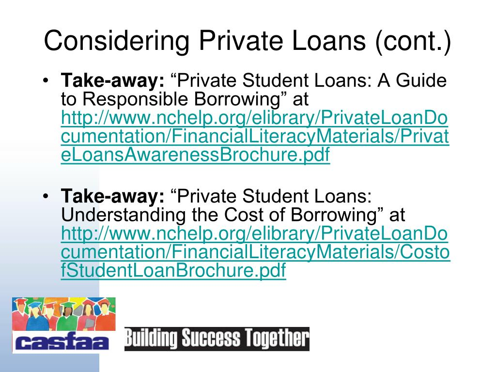 Private Student Loans >> Ppt Welcome To Student Loans 101 Powerpoint Presentation