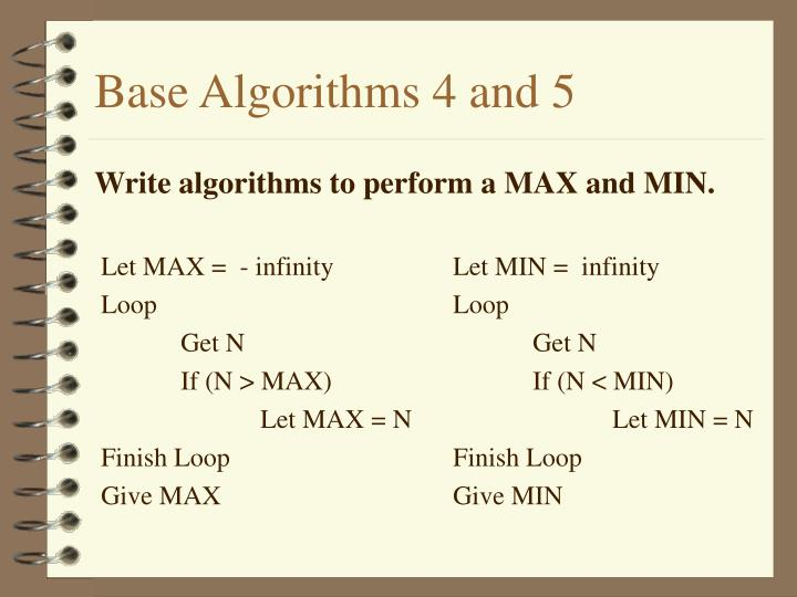 Base Algorithms 4 and 5