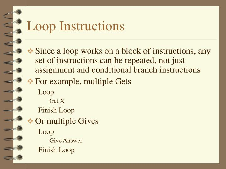 Loop Instructions