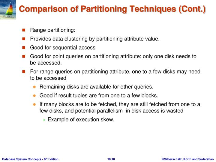 Range partitioning: