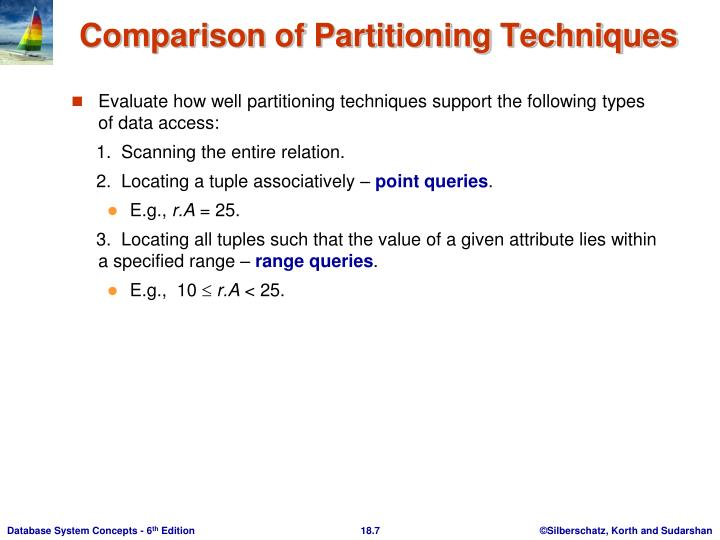 Evaluate how well partitioning techniques support the following types of data access: