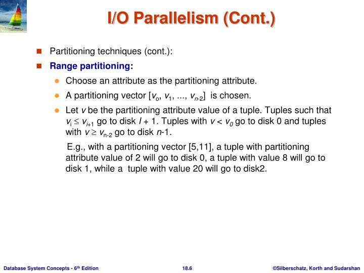 Partitioning techniques (cont.):