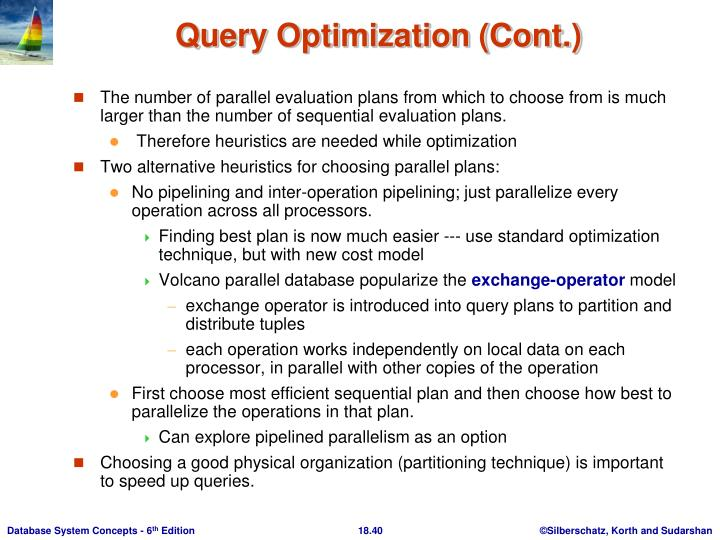 Query Optimization (Cont.)
