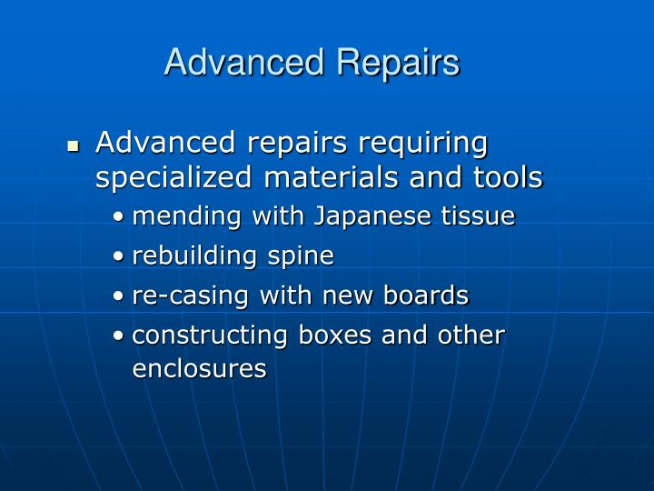 Advanced Repairs
