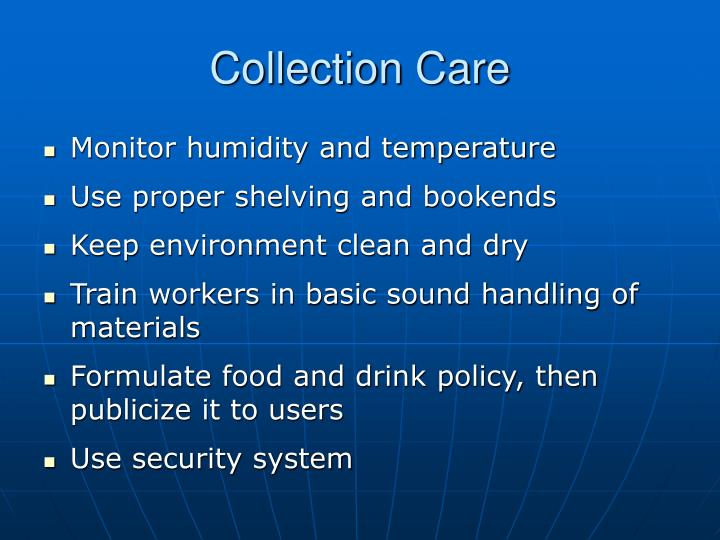 Collection Care