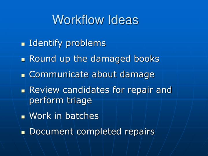 Workflow Ideas