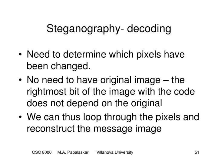 Steganography- decoding