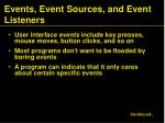 events event sources and event listeners