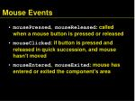 mouse events1
