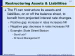 restructuring assets liabilities