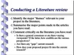 conducting a literature review