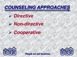 counseling approaches