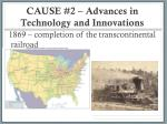 cause 2 advances in technology and innovations