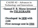 cause 2 advances in technology and innovations1