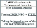 cause 2 advances in technology and innovations2