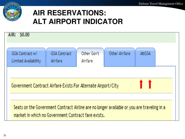 AIR RESERVATIONS: