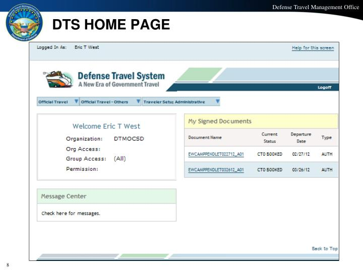 DTS HOME PAGE