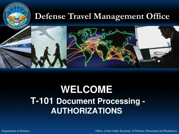 Welcome t 101 document processing authorizations