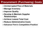 procurement purchasing goals