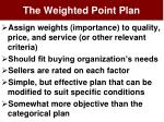 the weighted point plan