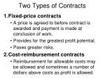 two types of contracts