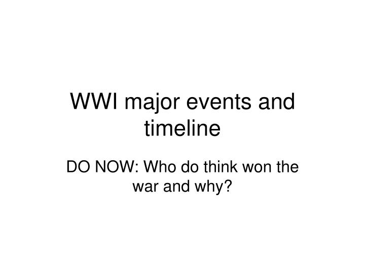 wwi major events and timeline n.