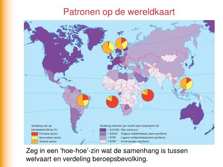 Patronen op de wereldkaart