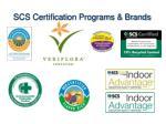 scs certification programs brands