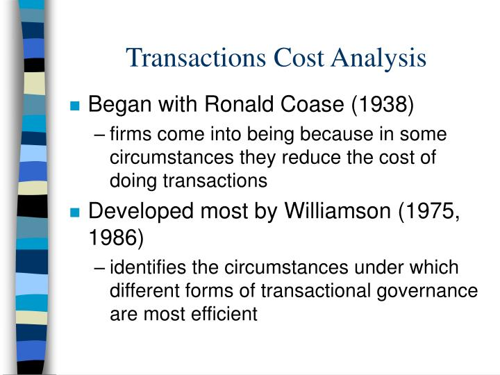 transaction cost analysis Title: transaction cost analysis: past, present, and future applications created date: 20160806143057z.
