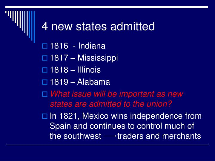 4 new states admitted