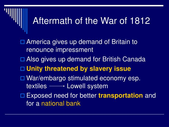 Aftermath of the War of 1812