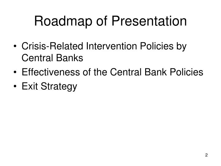 Roadmap of presentation