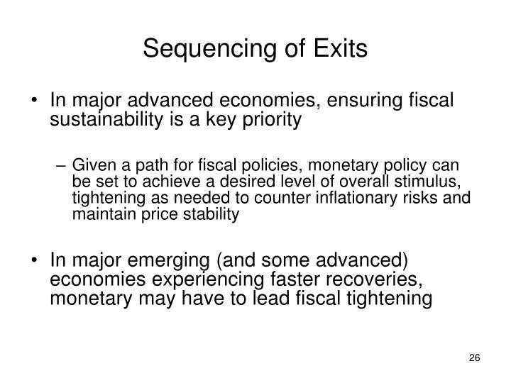 Sequencing of Exits