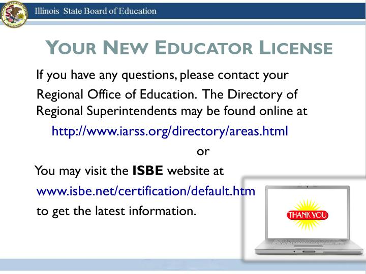 Your New Educator License