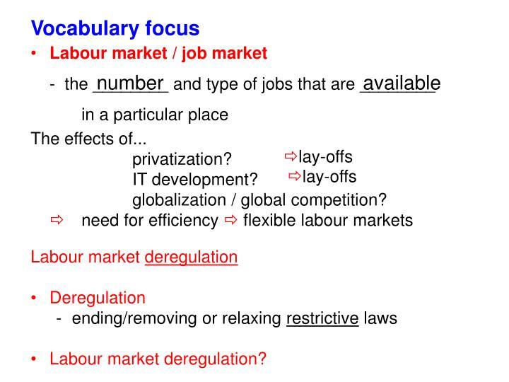Vocabulary focus