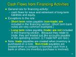 cash flows from financing activities2