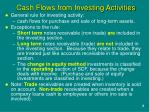 cash flows from investing activities1