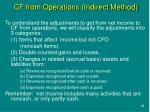 cf from operations indirect method
