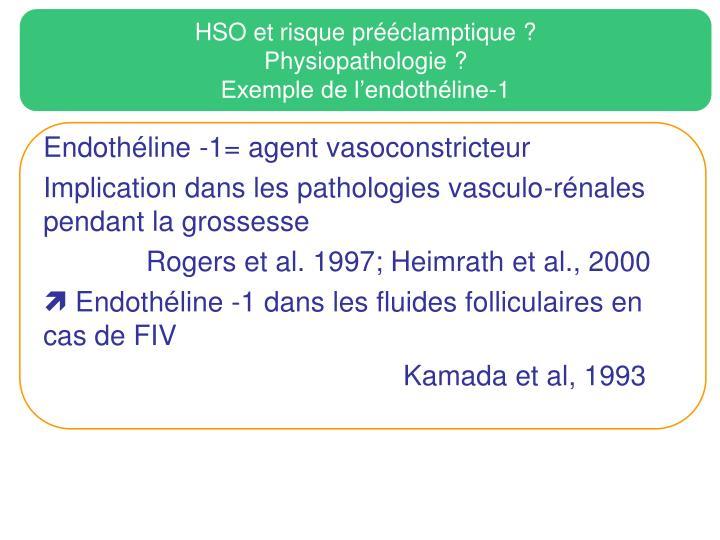 HSO et risque prééclamptique ?