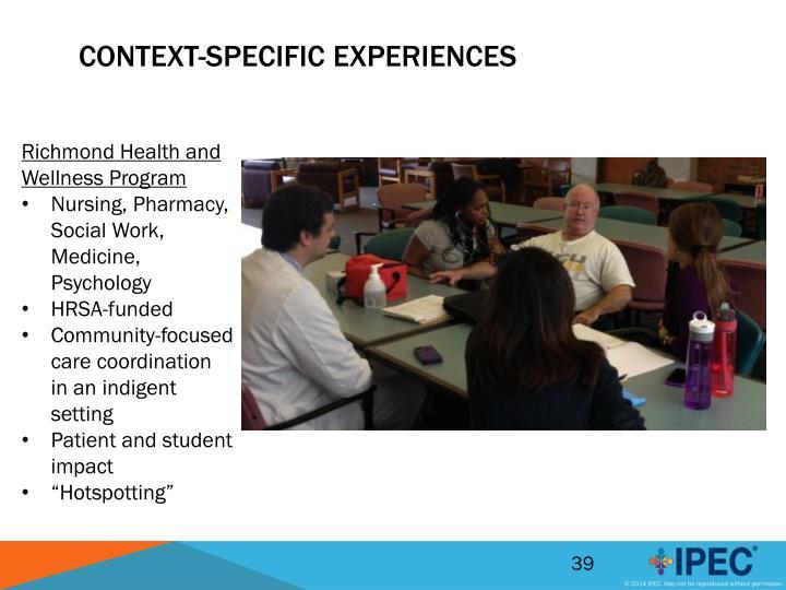 Context-Specific Experiences