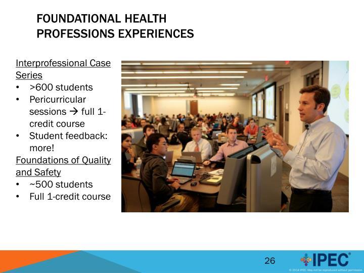 Foundational Health