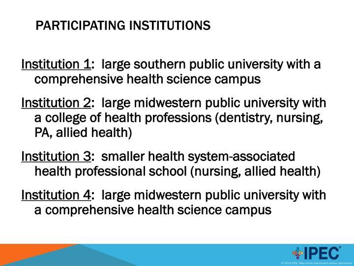 Institution 1