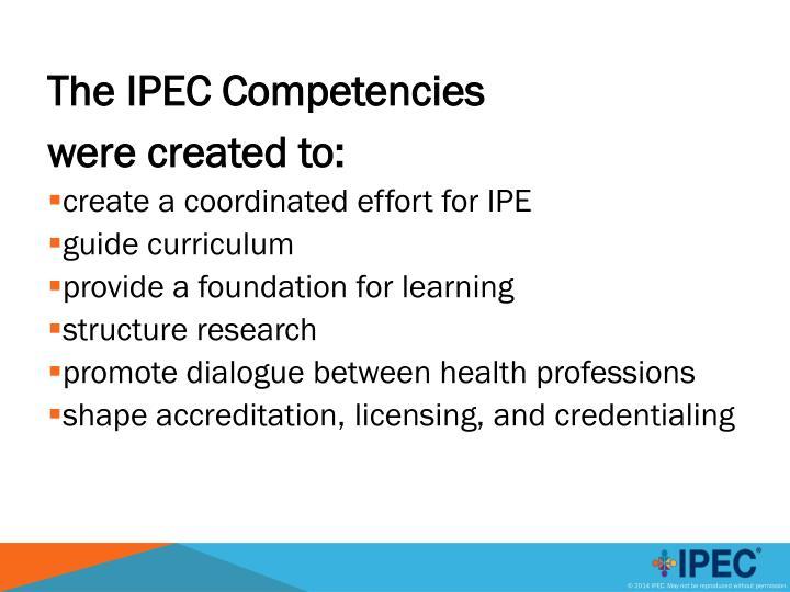 The IPEC Competencies