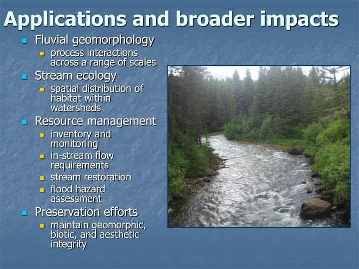 Applications and broader impacts