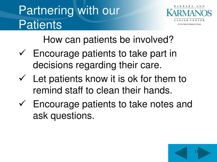 Partnering with our Patients